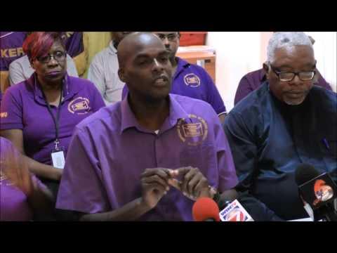 Postal Workers Union Media Conference, Dec. 21, 2015 - Trinidad & Tobago