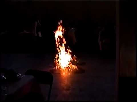 Mesero quemandose