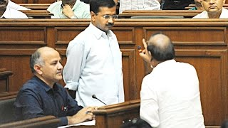 Arvind Kejriwal VS  Vijender Gupta in Delhi Assembly