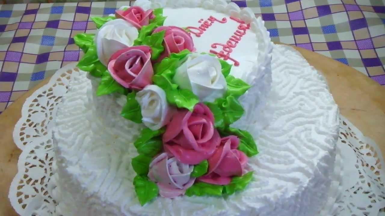 Торт двухъярусный своими руками рецепт с фото