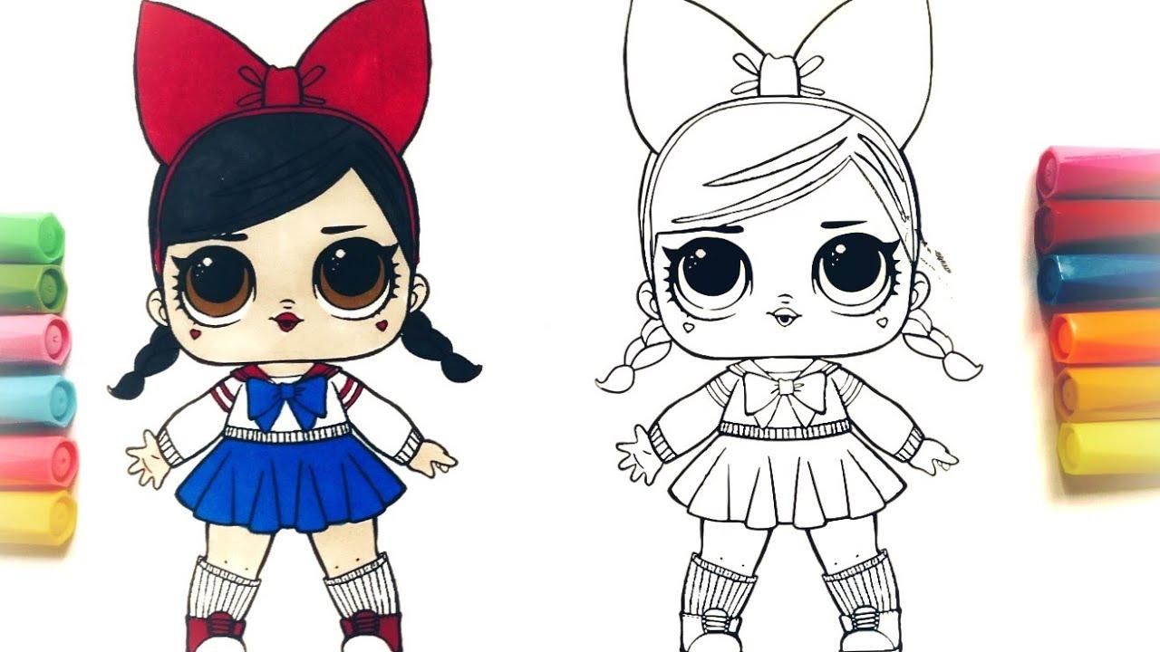 Раскраски куклы lol 81
