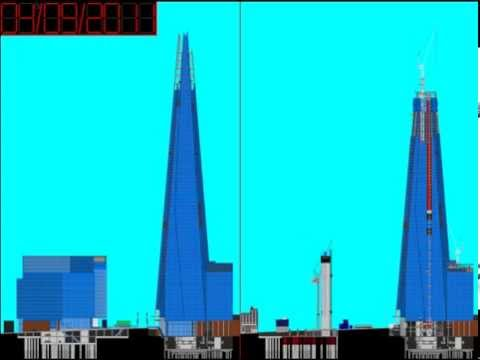 The Shard Baby's - London Bridge Quarter HD diagram time lapse (South elevation)