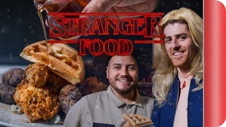 Stranger Things Upside Down Chicken and Waffles | Step Up To The Plate