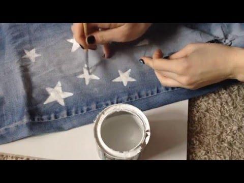 DIY украшаем старые джинсы)!