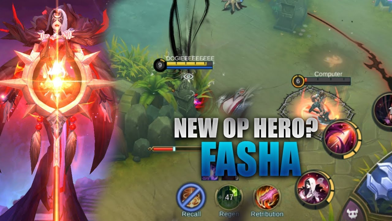 NEW HERO FASHA GAMEPLAY - MOBILE LEGENDS - 2000 DIAMONDS GIVEAWAY - GUIDE - RANK - FASHA