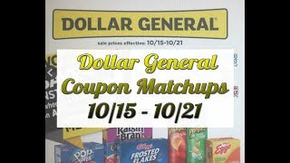 Dollar General Coupon Matchups 10/15-10/21  4 Instant Deals and Super Cheap Purex Coupon Stack