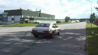 Ford Capri & Taunus testing the grip with dragrace tyres