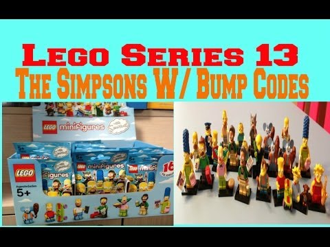 Lego The Simpsons Minifigures Series 13 With Bump Codes
