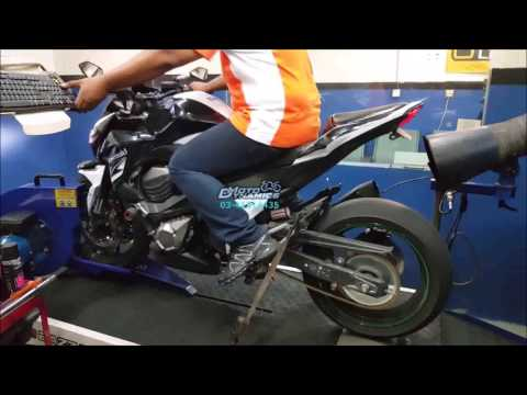 Kawasaki Z800 Dyno Run Health Check - Motodynamics Technology Malaysia