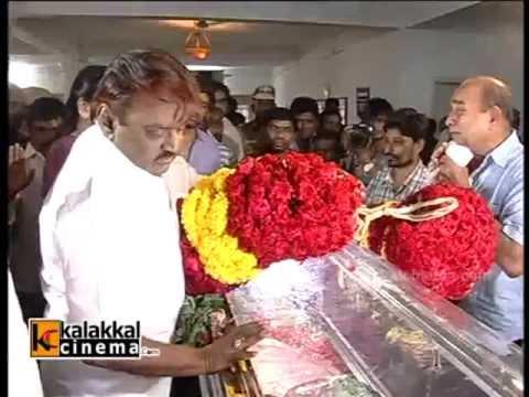 Vijayakanth at Veteran actress Manjula Vijayakumar Death - YouTube