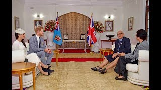 The Duke and Duchess of Sussex paid a courtesy call on His Excellency the President.