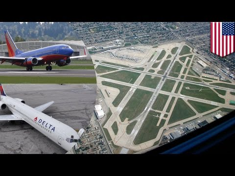 Near miss: Passenger planes nearly collide at Chicago's Midway Airport - TomoNews