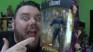 Marvel Legends Avengers Infinity War Captain America Thanos BAF Wave Action Figure Hasbro Toy Review