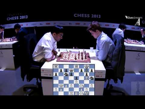 ♚ Vishy Anand vs Magnus Carlsen Chess Blitz ☆ Norway Chess 2013