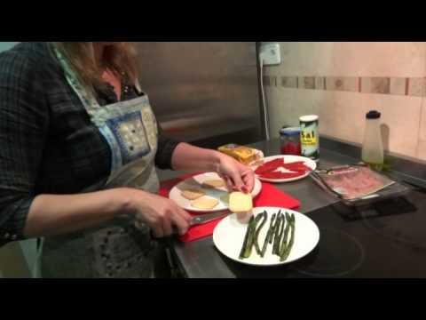 Recetas de cocina PINCHO ESPARRAGOS CON JAMON  tapas