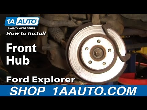 How To Install Replace Front Hub Ford Explorer Sport Trac Mercury Mountaineer 95-05 1AAuto.com