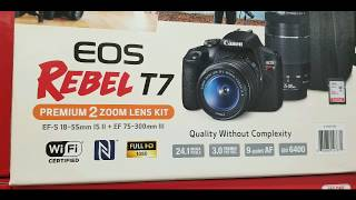 Costco! Canon EOS Rebel T7 w/ 2 lens and Sling Bag! $549!