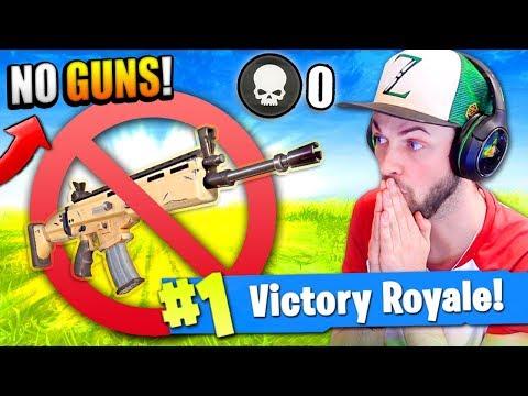 WINNING Fortnite: Battle Royale using NO WEAPONS!?