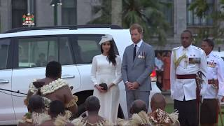 Fijian Traditional Welcome Ceremony for the Duke and Duchess of Sussex