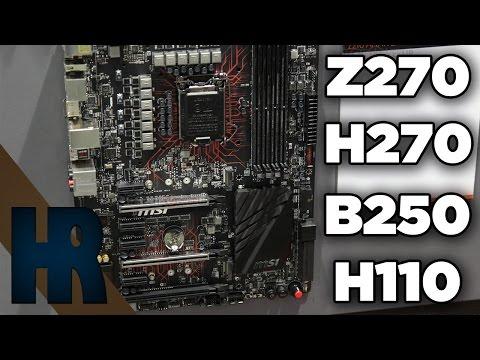 Z270 H270 B250 H110 Unterschiede Mainboard Chipsatz Vergleich Intel Kaby Lake