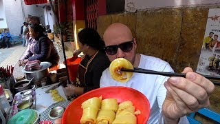 🇮🇳 Trying $0.25 Spicy Tibetan Laping Noodles   India Food Vlog