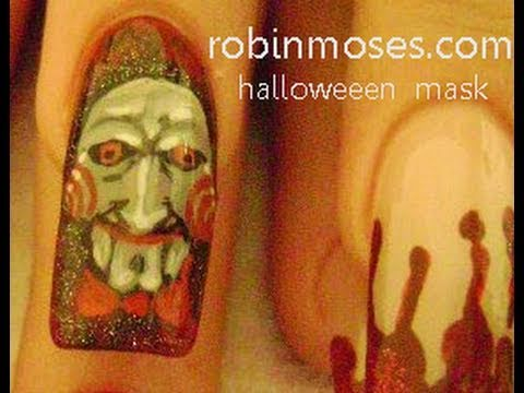 Nail Art Tutorial | DIY Halloween nails | Scary Jigsaw Design
