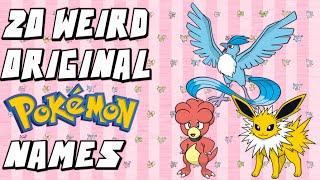 20 of the WEIRDEST Original Japanese Pokemon Names!