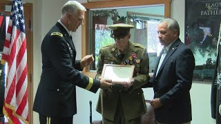 World War II veteran, 97, receives medals for service