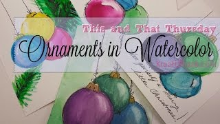 Ornaments in Watercolor
