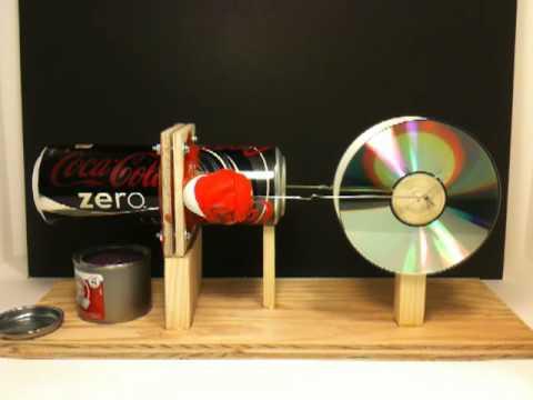 Yatay eksenli teneke kutudan stirling motoru yapımı