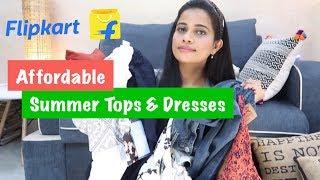 FLIPKART AFFORDABLE TOPS AND DRESSES HAUL under ₹800 | Sana K