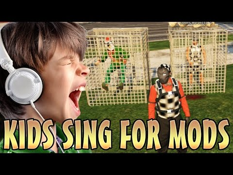 KIDS SING CHRISTMAS SONGS FOR MODS! (GTA 5 Funny Trolling)