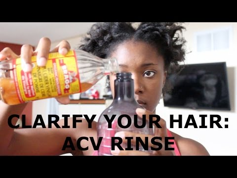 Natural Hair | How To: Clarify Hair with Apple Cider Vinegar (ACV) Rinse