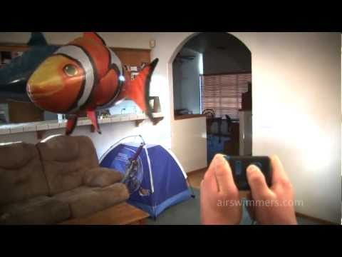 Air Swimmers - Awesome RC Flying Shark and Clownfish - Távirányítós, levegőben úszó cápa és bohóchal