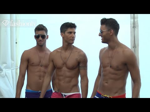 Dsquared2 Backstage ft Model Lucas - Milan's Fashion Week Spring 2012 | FashionTV - FTV.com