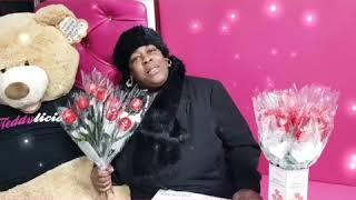 Sandra Martin At Teddylicious Desserts Erdington on Valentine's day . Free roses on the day