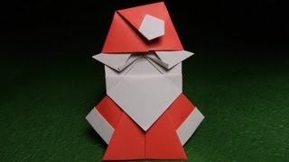 Origami Santa Claus Tutorial Video 摺紙聖誕老人的視頻教程