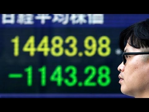 Japanese shares plunge, Nikkei closes down 7.3%