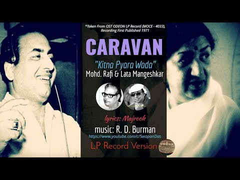 R.D. Burman | Mohd. Rafi & Lata Mangeshkar | Kitna Pyara Wada Hai | CARAVAN (1971) | Vinyl Rip