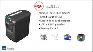 GBC ShredMaster GEX106 Jam Free Cross-Cut Shredder - Tour