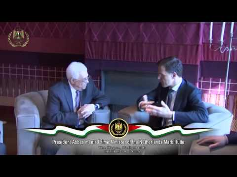 President Abbas meets Prime Minister of the Netherlands Mark Rutte
