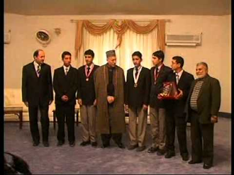 Kandahar Afghan-Turk High School Students with Karzai