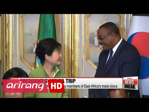 ARIRANG NEWS BREAK 15:00 President Park's Africa trip bears fruit in business, nuclear diplomacy
