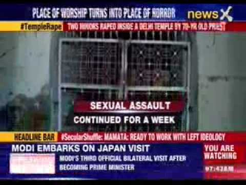 Two Minors Raped Inside A Delhi Temple By 70-year Old Priest video
