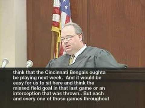 Judge Blasts Bengals Wide Receiver Chris Henry Video