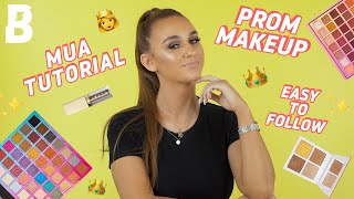 HOW TO: GRWM EASY PROM INSPIRED LOOK ✨ SOFT GLAM 👑💃| BEAUTY BAY