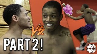 Jelly Fam 🍇 vs Mr. NYC 1 on 1! Isaiah Washington and Markquis Nowell GETS HEATED! PART 2