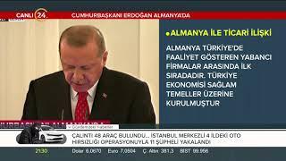 Bakan ErdoПan, Alman Cumhurbakanб Steinmeierin verdiПi yemekte konutu 28.09.2018