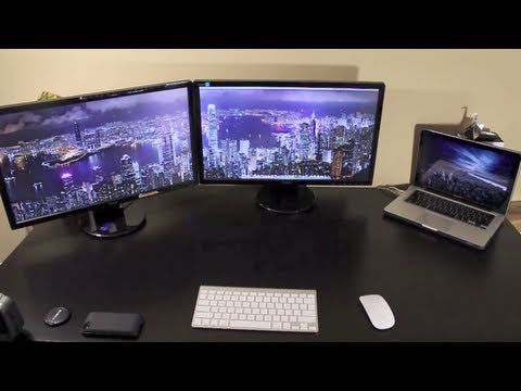 Hook up 2 monitors to macbook pro