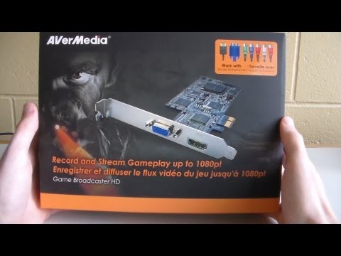 AVerMedia AVerTV Game Broadcaster HD Unboxing (HD Capture Card)